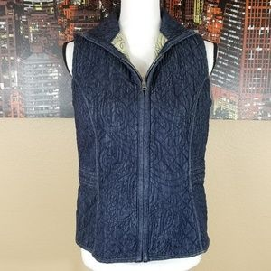 Chico's Quilted Denim Vest, size Small
